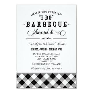Black Wedding Rehearsal Dinner | I Do BBQ 13 Cm X 18 Cm Invitation Card