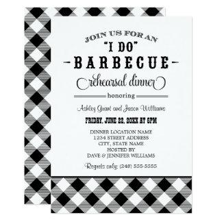 Black Wedding Rehearsal Dinner | I Do BBQ Card