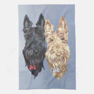 Black & Wheaten Scottish Terriers Towel