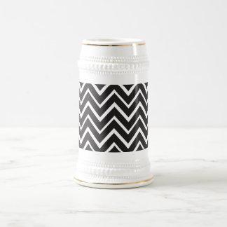 Black whimsical zig zags zigzag chevron pattern mug