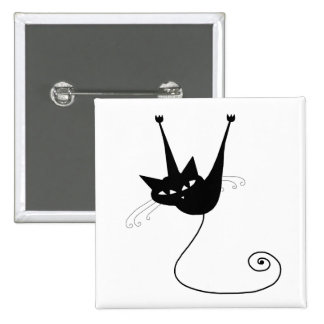 Black Whimsy Kitty 1 Buttons