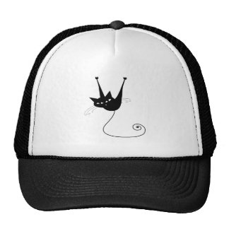 Black Whimsy Kitty 1 Cap