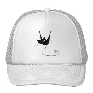 Black Whimsy Kitty 1 Trucker Hat