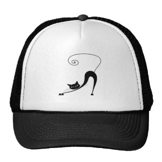 Black Whimsy Kitty 2 Cap