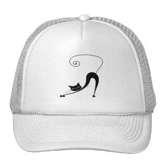 Black Whimsy Kitty 2 Mesh Hats
