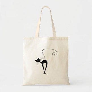 Black Whimsy Kitty 3 Canvas Bags