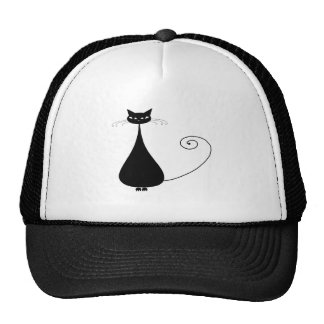 Black Whimsy Kitty 4 Trucker Hats