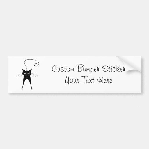 Black Whimsy Kitty 6 Bumper Sticker