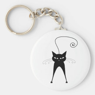 Black Whimsy Kitty 6 Keychains
