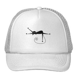 Black Whimsy Kitty 7 Mesh Hats