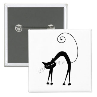 Black Whimsy Kitty 9 Button