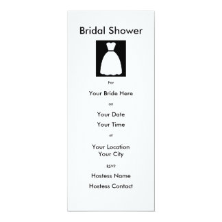 Black & Whire Dress Bridal Shower Invitation
