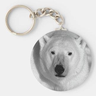 Black & Whit Polar Bear Key Ring