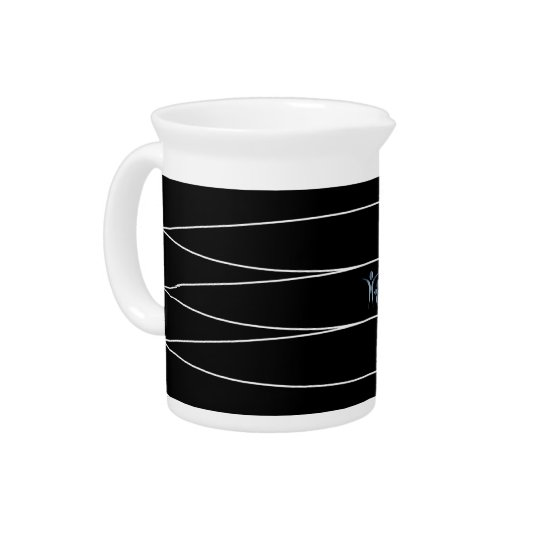 Black & White 19 oz Porcelain Pitcher
