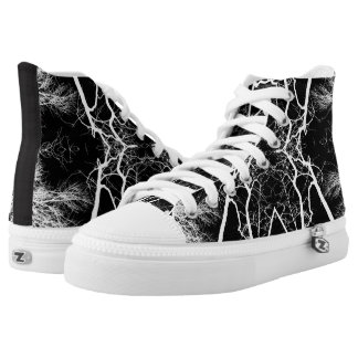 Black/White Abstract #3 Printed Shoes