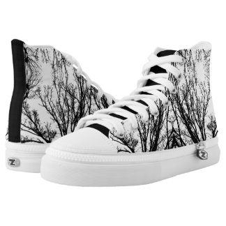 Black/White Abstract #4 Printed Shoes