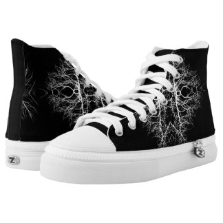 Black/White Abstract #5 High Tops