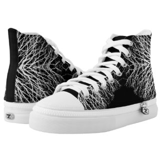 Black/White Abstract #6 High Tops