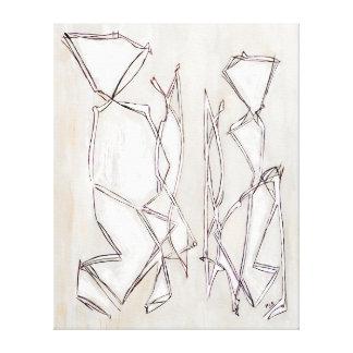 Black White Abstract Art Couple MC Belkadi Canvas Print