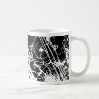 Black & White Abstract Basic White Mug