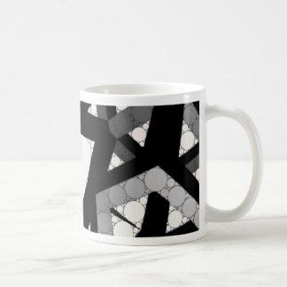 Black&White Abstract Basic White Mug