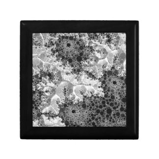 Black&White Abstract Bubble Pattern Small Square Gift Box