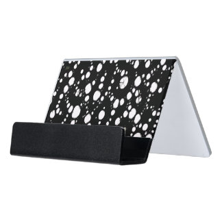 Black&White Abstract Desk Business Card Holder