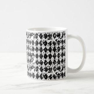 Black & White Abstract Diamonds Mug