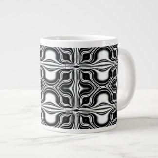 black white abstract extra large mug
