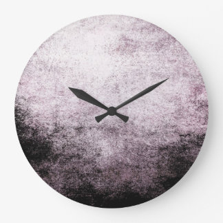 Black White Abstract Grunge Vintage Wall Clock