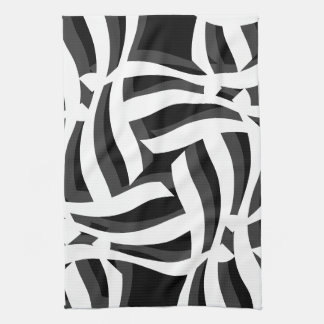 Black White Abstract Kitchen Towel
