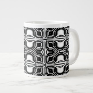 black white abstract large coffee mug