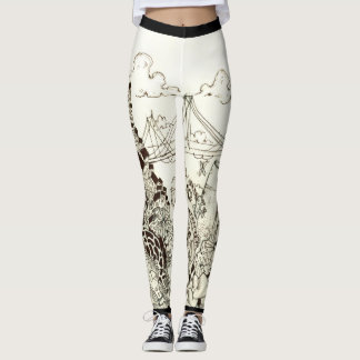 Black & White Abstract Leggings