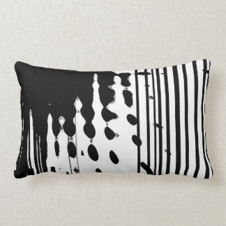 Black & white abstract lumbar pillow
