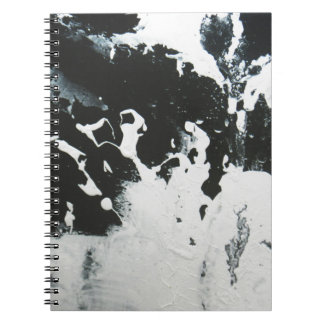 Black & White Abstract Marble Design Illustration Spiral Note Book