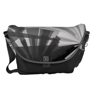 Black&White Abstract Commuter Bags