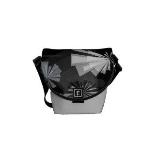 Black&White Abstract Messenger Bag