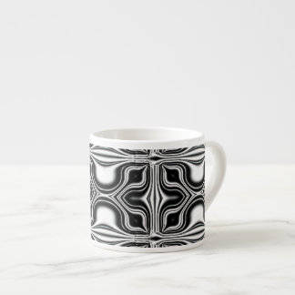 black white abstract espresso mug