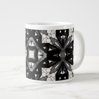 Black&White Abstract Jumbo Mug