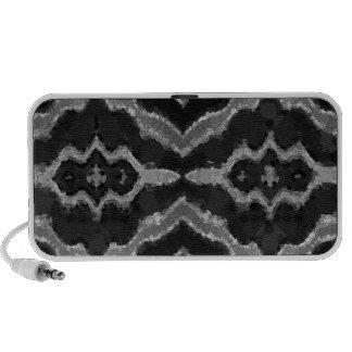 Black&White Abstract Overprint Portable Speaker