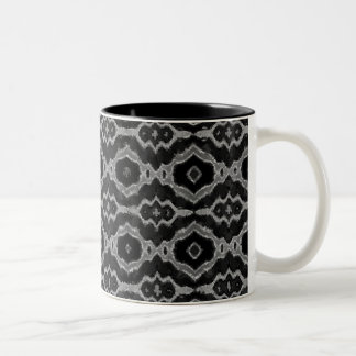 Black&White Abstract Overprint Two-Tone Coffee Mug