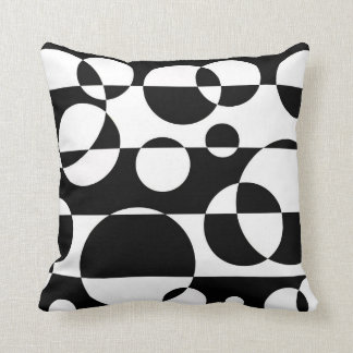 Black White Abstract Pillow Design Cushions