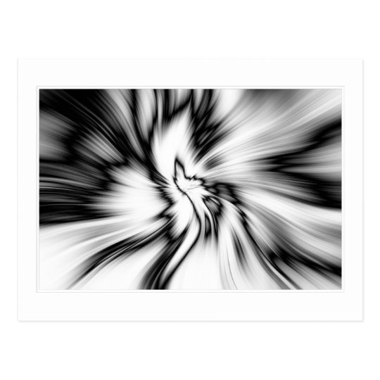 Black & White abstract Postcard