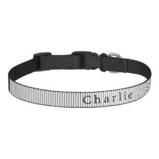 Black & White Abstract Print Personalized Pet Collar