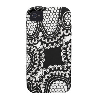 Black & White Abstract Snake Skin Pattern iPhone 4 Covers