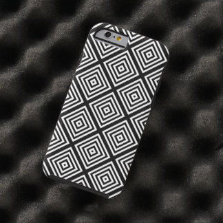 Black White Abstract Squares Tough iPhone 6 Case