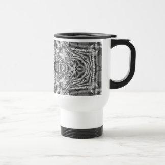Black&White Abstract Stainless Steel Travel Mug