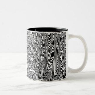 Black & White Abstract Swirl Two-Tone Mug