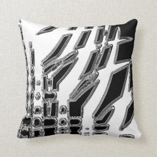 Black White Abstract Throw Pillow