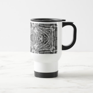 Black&White Abstract Travel Mug